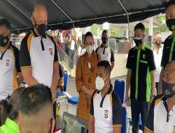 300 Personil Brimob Polda Maluku Ikut  Vaksin Tahap Pertama