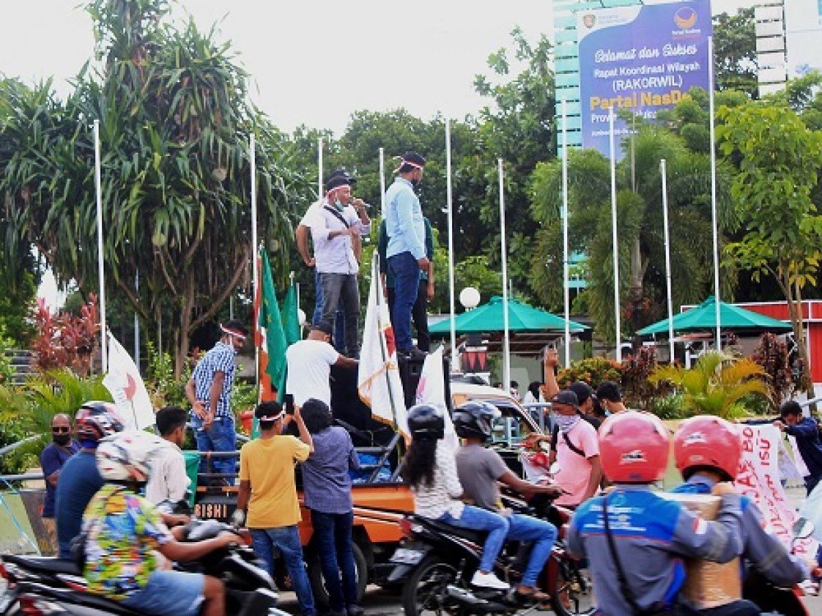Puluhan Pemuda Gelar Demo Untuk Tertibkan Ormas Ilegal