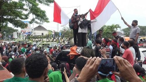Mahasiswa IAIN Gelar Demo Meminta Hentikan PPKM di Kota Ambon