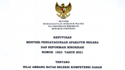 Menteri PANRB Terbitkan Keputusan Tentang Nilai Ambang Batas SKD Seleksi CPNS 2021