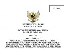 Pemerintah Perpanjang PPKM Mikro Mulai 21 Juli Hingga 25 Julli 2021