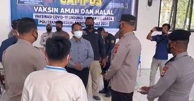 Gelar Vaksinasi COVID-19 Presisi On Campus, Polda Maluku Gandeng GMNI Cabang Ambon