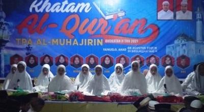 TPA Al Muhajirin Yanuelo Laksanakan Khataman Al Quran dan Wisuda 12 Santri