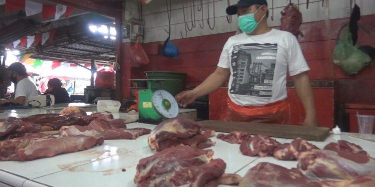 Tingginya Biaya Rapid Antigen Dikeluhkan Pedagang Daging Sapi di Pasar Mardika