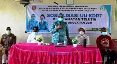 Sosialisasi UU KDRT Digelar Ketua TP PKK Maluku Tengah Saat Kunker ke Telutih