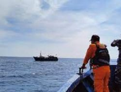 Tim SAR Gabungan Gunakan Kapal KPLP Tual Mencari Dua Warga Yang Tenggelam Dengan Speedboat
