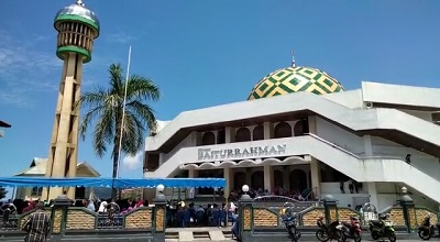 Warga Sirisori Islam Gotong Royong Bangun Tempat Wudhu Masjid Baiturrahman